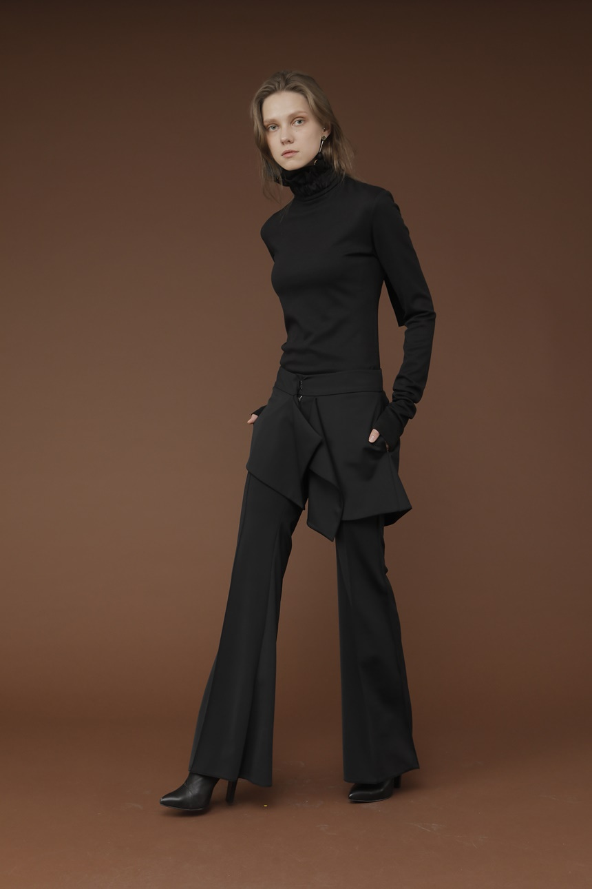 BLACK LAYERED SLACKS